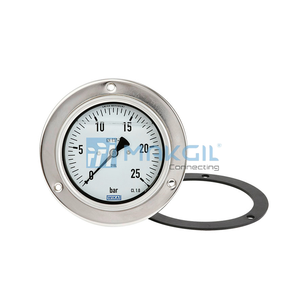 WIKA PG23CP - Đồng hồ đo áp suất lắp bảng (Pressure Gauge For Panel Mounting) hãng WIKA/Germany