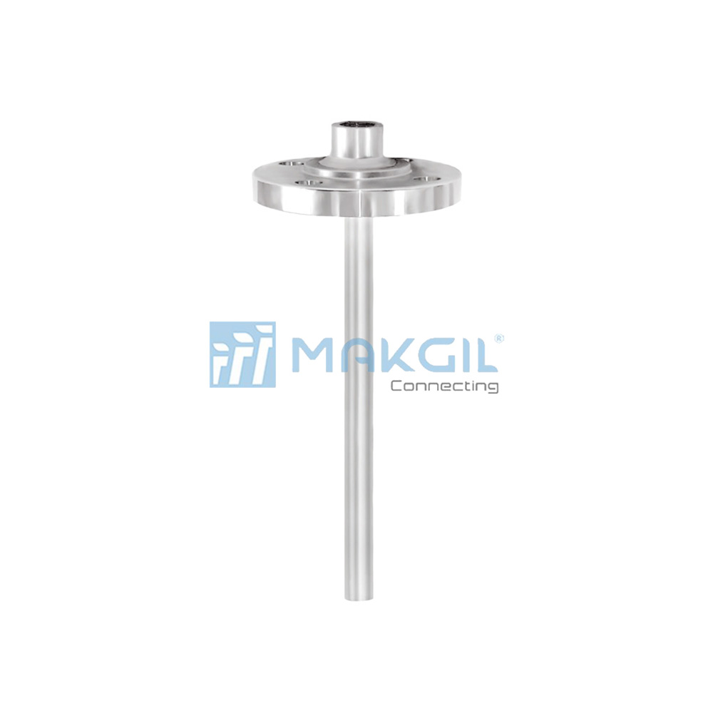 WIKA TW10-B, TW10-S - Ống bảo vệ thermowell nối bích dạng ren (Thermowell with threaded flange) hãng WIKA/Germany
