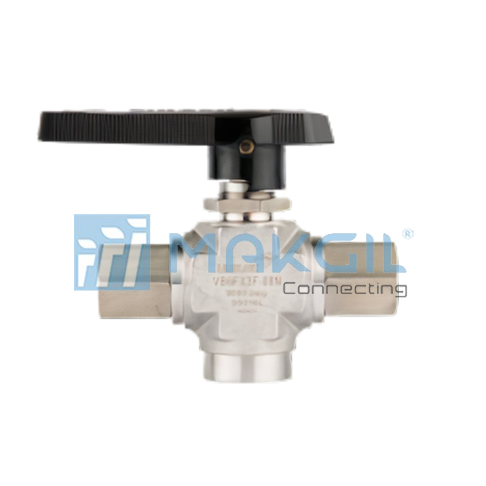 VB6BX series – Van bi ba ngả áp lực cao (3 Way High Pressure Bar-stock Ball Valves) hãng UNILOK/Korea